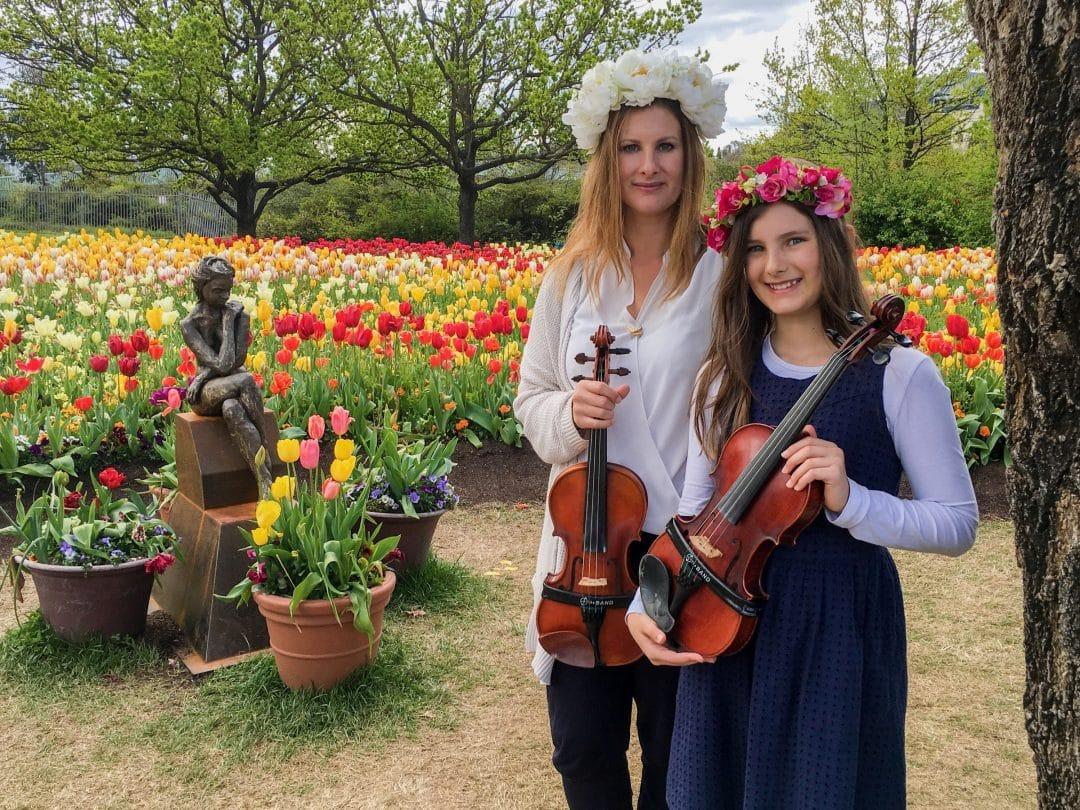 Sarah and Ashleigh at Floriade 2016